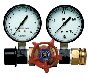 Thuemling Industrial Products 160 psi House Inspection Pressure and Flow Gauge Tester TMO10060 at Pollardwater