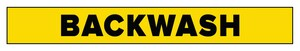 Accuform Signs Backwash Pipe Marker in Yellow ARPK151SS