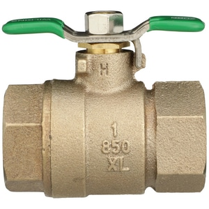 Wilkins Regulator FNPT Bronze and Stainless Steel Full Port Ball Valve with Lever Handle and Nut W850XLSB