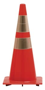 Work Area Protection Corporation 36 in. Heavy Traffic Cone with Reflective Collars 12 lb W36PVCH2CC at Pollardwater
