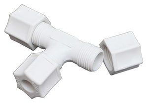 3/8 in. Tube Compression Straight Polypropylene Union Tee J706PO at Pollardwater