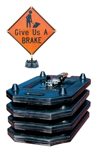 17-1/2 in. Rubber Base Sign Stand TRA26000 at Pollardwater