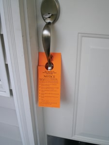 Printcom Door Hanger - Notice Smoke Testing 100 Pack Pink PSAB012 at Pollardwater
