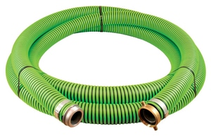 Abbott Rubber Co Inc 20 ft. x 3 in. 45 psi NPSM Male x NPSM Female All Weather Suction Hose in Green and Black A1220300020 at Pollardwater