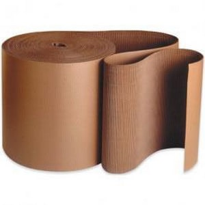 Multiwall Packaging 250 ft. B-Flute Corrugated Single-Face Paper Roll MCRCSFB