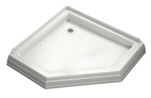 Kohler Memoirs® 42 x 42 in. Neo-Angle Single Threshold Rear Center Drain Shower Base K9542