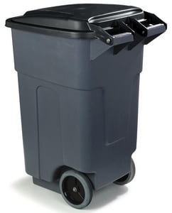Carlisle Foodservice Bronco™ 50 gal Rolling Trash Can in Grey C34505023