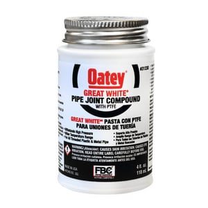 Oatey 4 oz. Pipe Joint Compund Dope with PTFE and Brush O31230