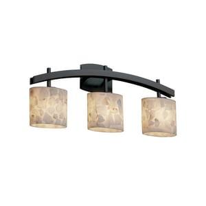 Justice Design Group Alabaster Rocks™ 60W 3-Light B13 Base Bath Bar Light JALR859330