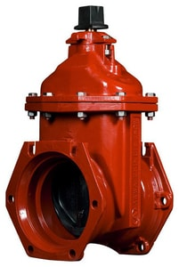 American Flow Control Mechanical Joint Ductile Iron Open Right with Accessories Resilient Wedge Gate Valve AFC25MMOR