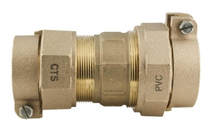 Ford Meter Box CTS Pack Joint x PVC Pack Joint Brass Straight Coupling FC47