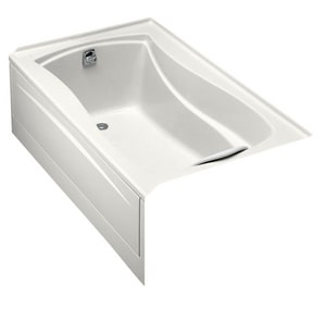 Kohler Mariposa® 60 x 36 in. Alcove Bathtub with Integral Tile Flange and Left-Hand Drain in White K1242-L-0