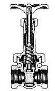 William Powell Co 4 in. 200# Bronze Threaded Rising Stem Gate Valve P375K