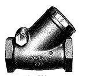 William Powell Co 200# Bronze Threaded Swing Check Valve P560Y