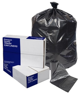 Pitt Plastics 24 x 24 in. 0.9 mil Can Liner in Black (Case of 500) P114917