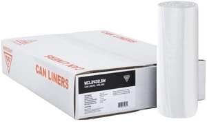 Pitt Plastics 24 x 24 in. 8 mic Can Liner in Natural (Case of 1000) P112098