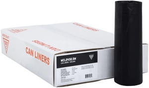Pitt Plastics 39 x 33 in. 1.1 mil Flat Can Liner in Black (Case of 100) P112004