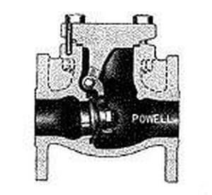 William Powell Co 11-1/2 in. Flanged Swing Check Valve in Stainless Steel P2342FM0TXXXP