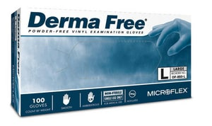 Microflex Derma Free® Disposable Powder-Free Plastic and Vinyl Examination Gloves MDF850
