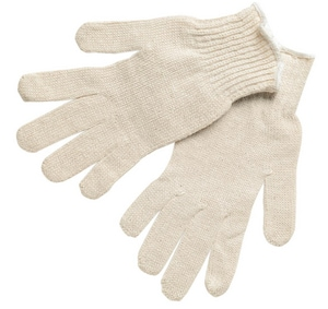 Memphis Glove Large Cotton-Plastic Glove in White M9634L