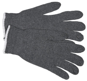 Memphis Glove Cotton-Plastic Glove in Grey M9637S