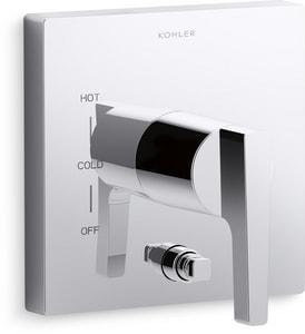 Kohler Honesty™ Pressure Balancing Valve Trim with Push-Button Diverter and Single Lever Handle KT99762-4