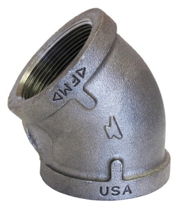 Anvil Threaded 150# Galvanized Malleable Iron 45 Degree Elbow G4