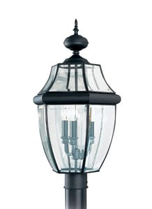 Seagull Lighting Lancaster 60 W 3-Light Candelabra Post Lantern S8239