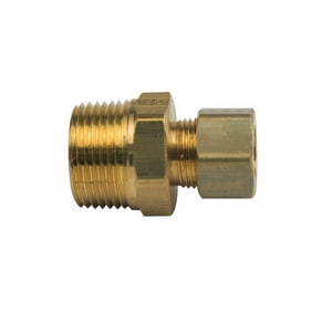 PROFLO® 1/2 x 3/4 in. OD Tube x MIP Brass Compression Adapter PFXMCUDFN