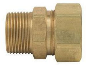 PROFLO OD Tube x MIP Brass Compression Adapter PFXMCUFN