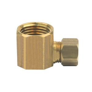 PROFLO® 3/8 x 1/2 in. OD Tube x FIP Brass Compression Elbow PFXFCECDN