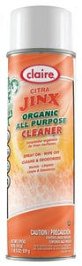 Claire 20 oz. Aerosol Citra Jinx Organic Cleaner CCL985 at Pollardwater