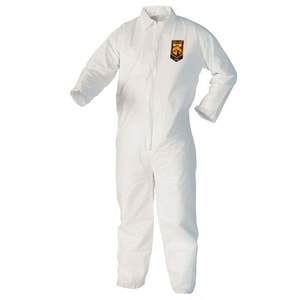 Kimberly Clark Kleenguard® Zipper Front Coverall in White K37687
