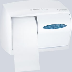 Kimberly Clark Professional 11 in. Double Jumbo Roll Tissue Dispenser in Pearl White K09605