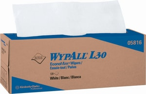 Kimberly Clark WypAll® L30 9-4/5 x 16-2/5 in. Wipes in White (Case of 6) K05816