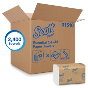 Kimberly Clark Scott® 200-Count 13-3/20 in. C-Fold Paper Towel in White (Case of 12) K01510