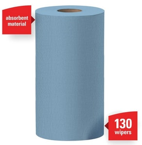Kimberly Clark Wypall® X60 9-4/5 in. Small Wipes Roll in Blue (Case of 12) K35411