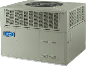 American Standard HVAC 4YCC4 Series 14 SEER R-410A Single-Stage Spine Fin Convertible LP or Natural Gas/Electric Packaged Unit A4YCC4A1090A