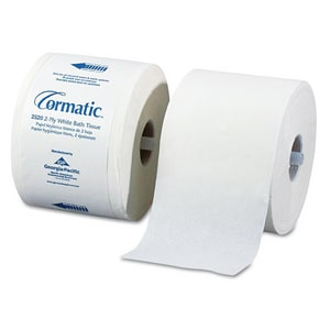 Georgia-Pacific Cormatic® 3-9/10 in. 2-Ply Shell Embossed Bathroom Tissue in White (Case of 36) GEO2520