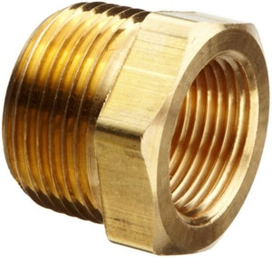 Merit Brass HEX Barstock Brass Bushing BRTPLFBB at Pollardwater