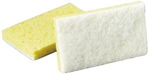 Scotch-Brite™ Light Duty Scrub Sponge in White and Yellow (Case of 20) 3M04801108251