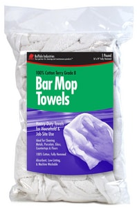 Buffalo Industries 1 lb Bar Mop Towel Bag BUF12049