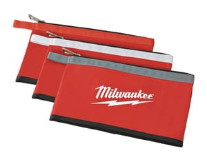Milwaukee Zipper Pouch in Red M48228193