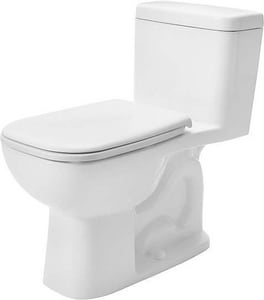Duravit USA D-Code 1.28 gpf Elongated Toilet in White Alpin D0113010082
