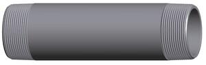 1/2 in. Threaded Galvanized Schedule 160 Seamless Nipple G160SND