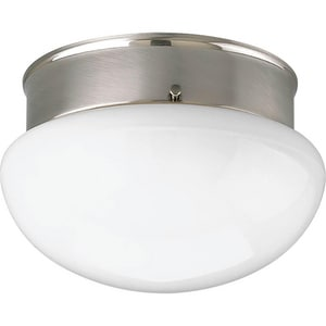 Progress Lighting 13W 1-Light 120V Flushmount Compact Fluorescent Ceiling Fixture with Lamp PP3408WB