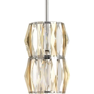 Progress Lighting The Pointe 60W 1-Light Mini Pendant in Polished Chrome PP505115