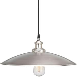 Progress Lighting Archives 6-1/8 in. 1-Light Pendant with Cloth Cord PP5124