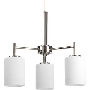Progress Lighting Replay 100W 3-Light Medium E-26 Base Incandescent Chandelier in Polished Nickel PP4318104