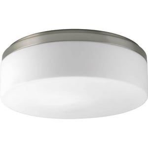 Progress Lighting Maier 17W 2-Light LED Flushmount Ceiling Fixture in Brushed Nickel PP39110930K9